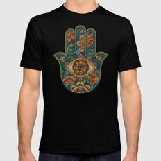 Hamsa Mens Fitted Tee Black SMALL