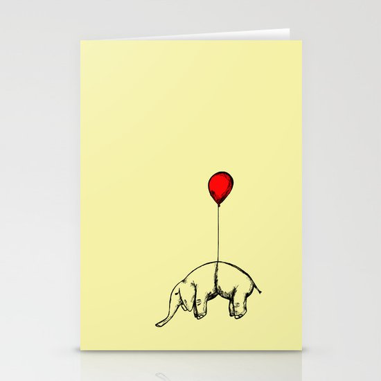 Red Elephant Stationery Card
