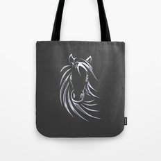 Silver Horse Tote Bag