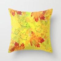 Autumn impression Throw Pillow