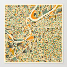 KANSAS CITY Map Canvas Print