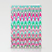 Making Waves Pink And Pr… Stationery Cards