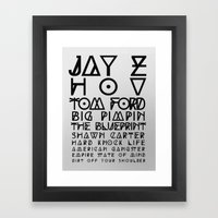 Eye Test - JAY Z Framed Art Print