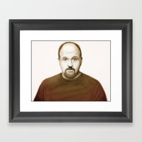 Louis Ck Framed Art Print