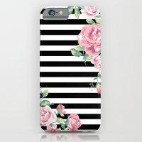Floral Stripes iPhone 6 Slim Case