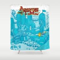 Adventure Time! Shower Curtain