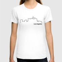 los angeles T-shirts featuring Los Angeles by Fabian Bross