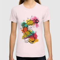 Bug Womens Fitted Tee Light Pink SMALL