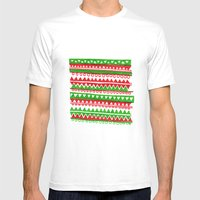 Pattern 2 Mens Fitted Tee White SMALL