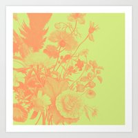 Wildflower Pattern Art Print