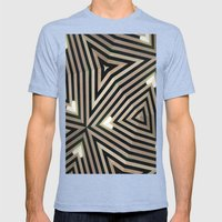 Roof 1 Mens Fitted Tee Tri-Blue SMALL