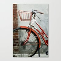 Red bicycle Canvas Print