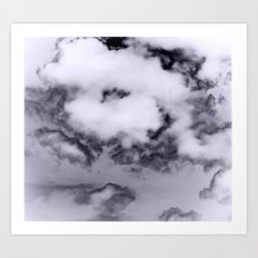 Ink Clouds Art Print