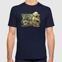 My Scooter Mens Fitted Tee Navy SMALL