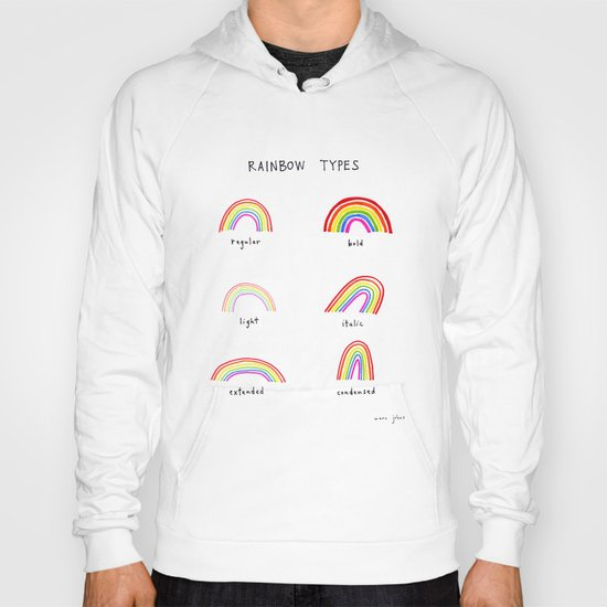 rainbow types Hoody