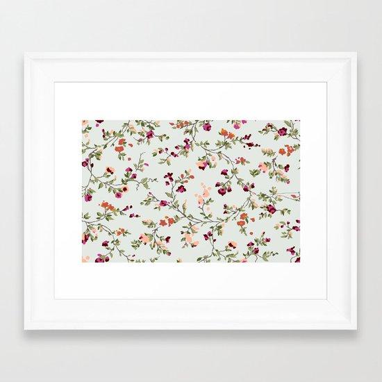 floral vines - neutrals Framed Art Print