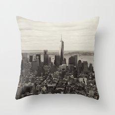 Downtown Manhattan Throw Pillow