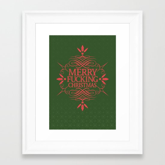 Merry Effin Christmas Framed Art Print