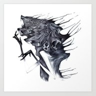 Art Print featuring A Forest's Darkness by Natalie Hall