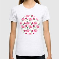 Peonies Womens Fitted Tee Ash Grey SMALL