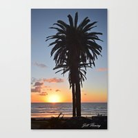 Southern California Sunset Palm Tree Canvas Print
