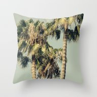 Exotic Palm Trees Throw Pillow