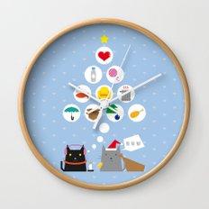 Santa Cat Wall Clock