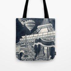 French Collage v1 Negative Tote Bag