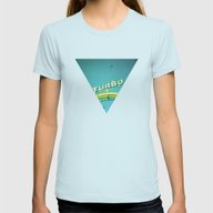 Turbo Womens Fitted Tee Light Blue SMALL