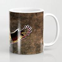 Happy Cycloptic Dog Eagle with a Stache (scratch back) Mug