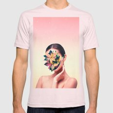 PLANT FACE Mens Fitted Tee Light Pink SMALL