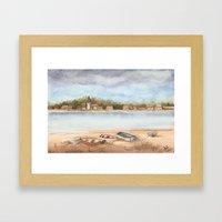 Boats on the Sand Framed Art Print
