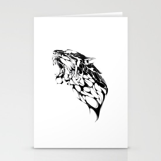 Tiger Growl Stationery Card