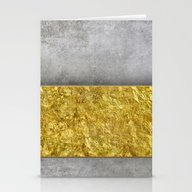 Stationery Cards featuring Concrete And Gold by LebensART