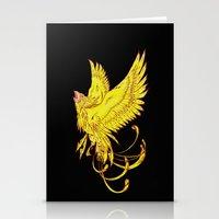 Phoenix on Fire Stationery Cards