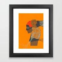 mosaic girl Framed Art Print