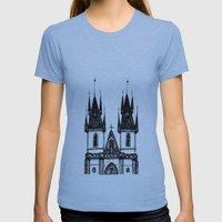 Tyn Church - Prague Womens Fitted Tee Athletic Blue SMALL