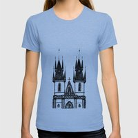 Tyn Church - Prague Womens Fitted Tee Athletic Blue SMALL