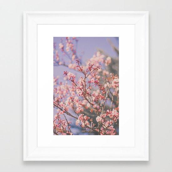 Spring makes it better Framed Art Print