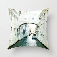 The Bridge of Sighs - Venice Throw Pillow