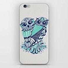 Owls - Turquoise & Navy iPhone & iPod Skin