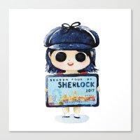 Sherlock 4 on 2017 Canvas Print