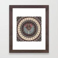 Butterfly Mandala Framed Art Print
