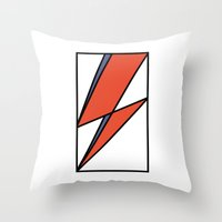 Bowie Tribute Throw Pillow