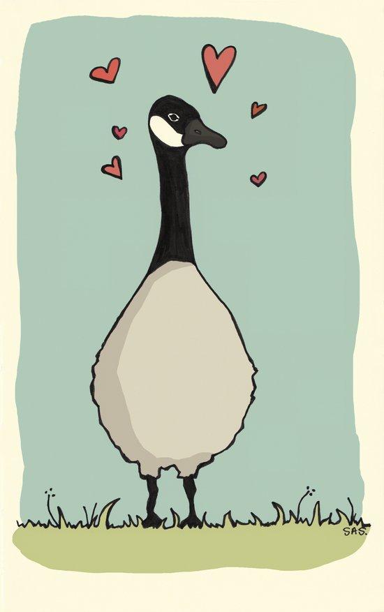 Goose Love Art Print