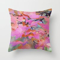 Autumn Rainbow Colors Throw Pillow