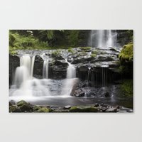 Blaen-y-glyn Waterfall 2 Canvas Print