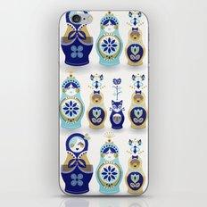 Russian Nesting Dolls – Blue & Gold iPhone & iPod Skin