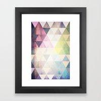 Geometric Groove Framed Art Print