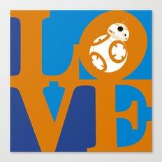 Robot LOVE - Orange Canvas Print